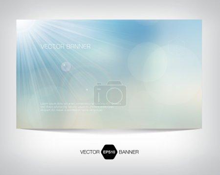 Vector sunny web banner, business card or flyer design.