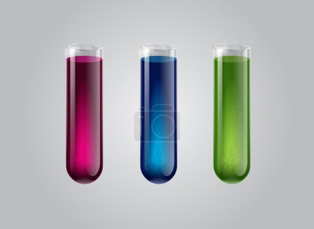 Illustration for Vector glass test tubes - Royalty Free Image