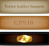 Vector genuine leather - suede textured banners collection
