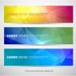 A set of modern vector banners with polygonal back...