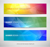 A set of modern vector banners with polygonal background