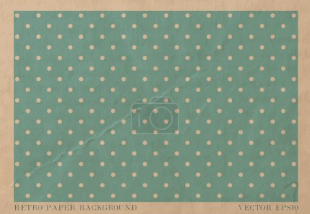 Vector vintage worn out paper card