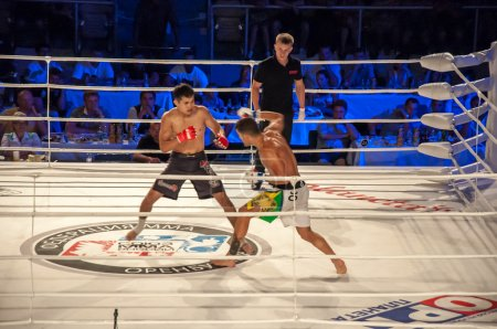 MMA fights without rules. Agoni Romero, Spain and Rinat Kultumanov, Russia.