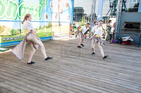 Girls dance on the holiday of Ivan Kupala