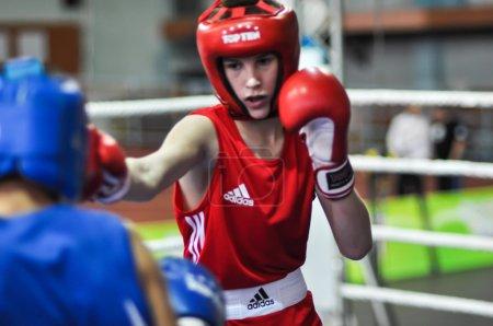 Photo pour Nom du tournoi de boxe russe Maîtres honorés des sports Vladimir Tchernyshov - image libre de droit