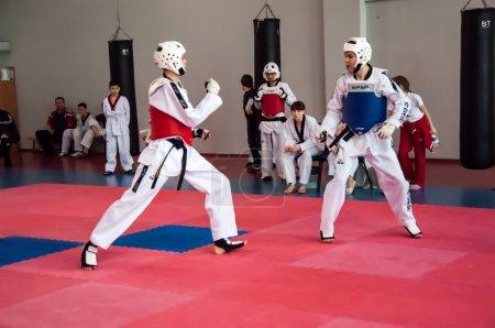 Samoobrona without arms - Taekwondo is a Korean martial art.