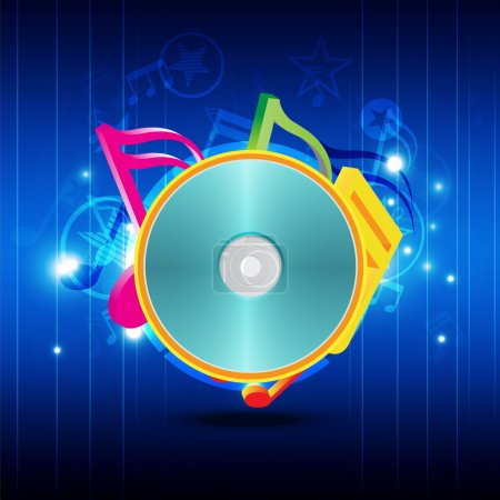 Music disk with festival background