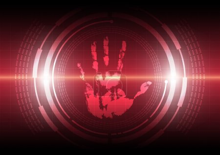 Illustration for Scan handprint technology - Royalty Free Image