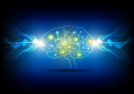 Illustration pour Processus cérébraux concept - image libre de droit