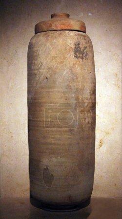 Ceramic vessel from the Qumran caves. Shrine of the Book. Jerusalem. Israel