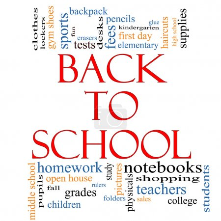 Back to School Word Cloud Concept
