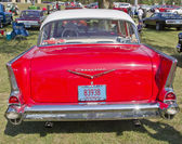 MARION, WI - SEPTEMBER 16: Back of 1957 Red Chevy