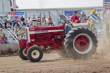 Shiny Red International Turbo Tractor