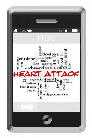 Word Cloud Concept on Touchscreen Phone