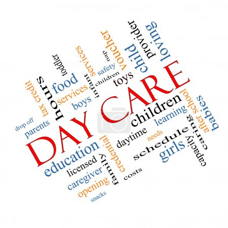 Day Care Word Cloud Concept Angled