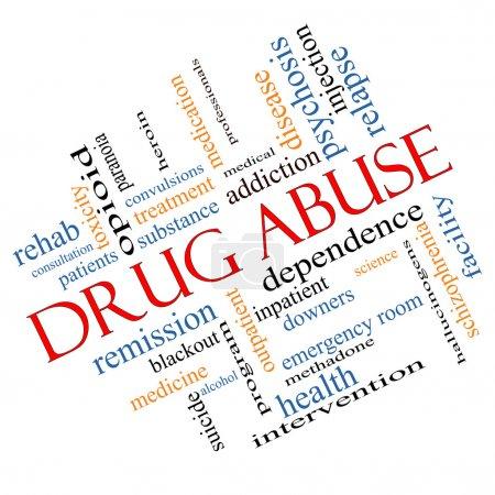 Drug Abuse Word Cloud Concept Angled