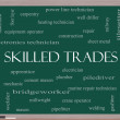 Skilled Trades Word Cloud Concept on a Blackboard ...