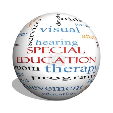 Special Education 3D sphere Word Cloud Concept