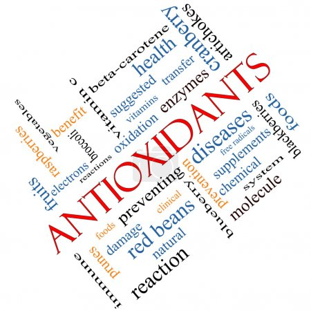 Antioxidants Word Cloud Concept Angled