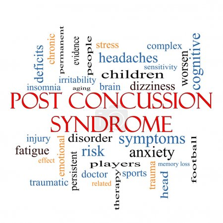 Photo for Post Concussion Syndrome Word Cloud Concept with great terms such as brain, injury, trauma and more. - Royalty Free Image