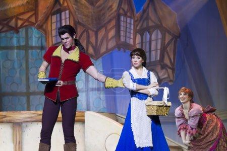Gaston pulling Belle