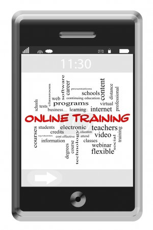 Online Training Word Cloud Concept on a Touchscreen Phone