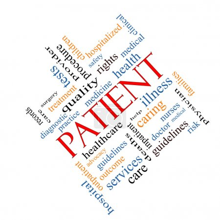 Patient Word Cloud Concept Angled