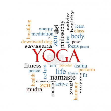 Yoga Word Cloud Concept