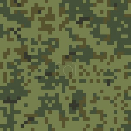 Seamless Digital Camouflage Pattern