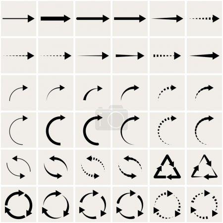 Illustration pour Ensemble de flèches noires. eps8 - image libre de droit