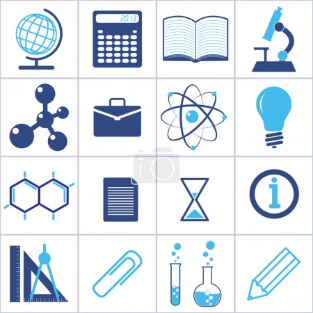 Photo for Icons of a science and education. vector set. eps8 - Royalty Free Image