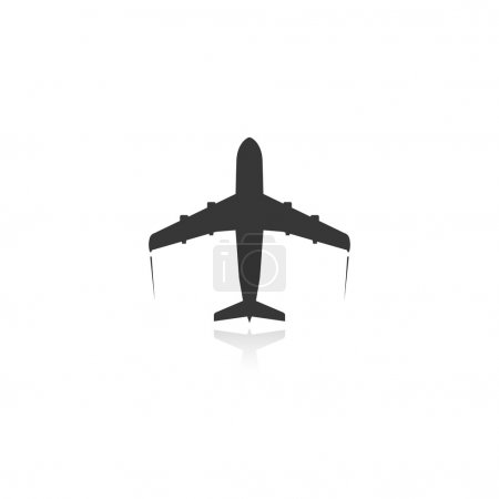 Illustration pour Icône de l'avion passager. vecteur. eps10 - image libre de droit