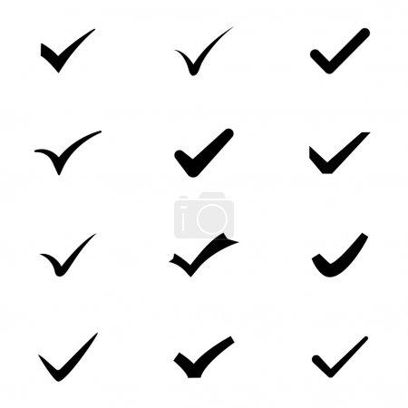 Checkmark icons vector set eps8