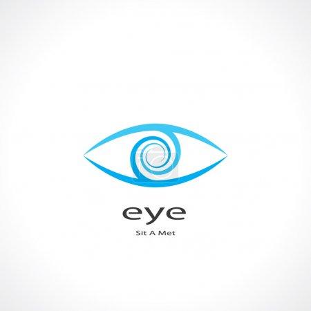 Illustration pour Symbole abstrait de l'oeil. vecteur eps10 - image libre de droit