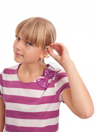 Hearing aid putting on