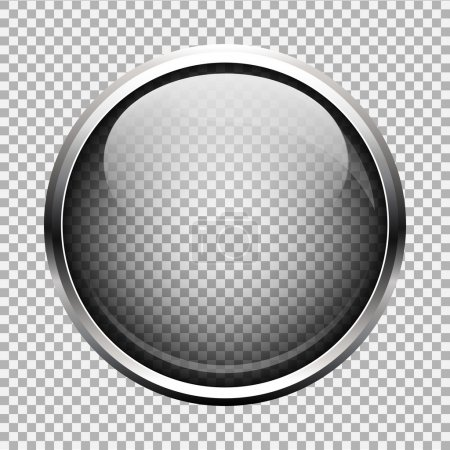 Illustration for Transparent glass button. EPS 10 - Royalty Free Image