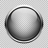 Transparent glass button EPS 10