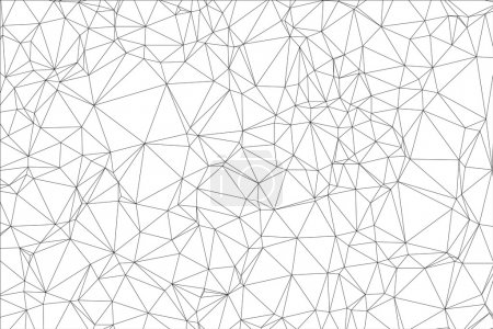 Illustration for Background black and white polygon. Geometric backdrop. - Royalty Free Image