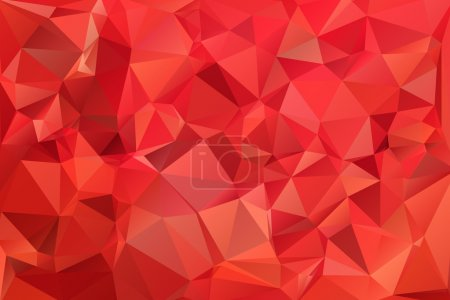 Illustration for Red abstract background polygon. Geometric backdrop. - Royalty Free Image