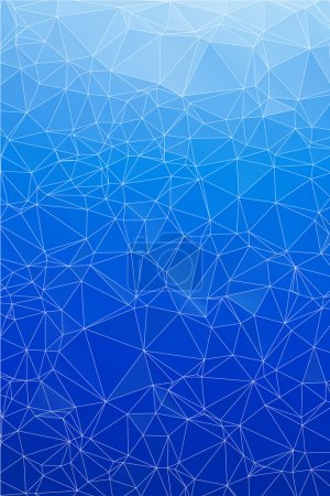 Illustration for Blue ice abstract background polygon. Geometric backdrop. - Royalty Free Image