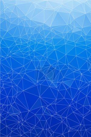 Illustration pour Bleu glace abstrait fond polygone. Fond géométrique. - image libre de droit