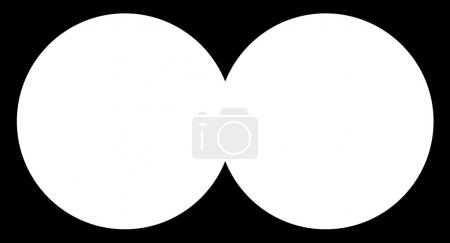 Illustration for Looking through binoculars - Royalty Free Image