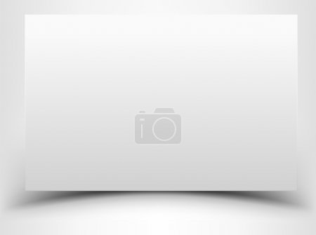 Illustration pour Feuille blanche vierge avec ombre - image libre de droit