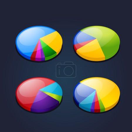 Ilustración de Colorido conjunto de gráfico gráfico - Imagen libre de derechos