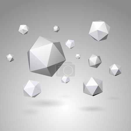 Illustration pour Illustration vectorielle abstraite des formes géométriques - image libre de droit