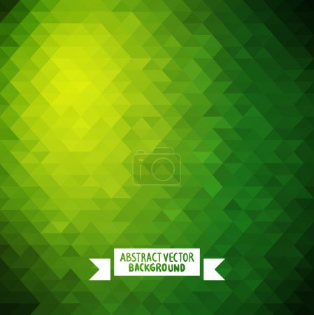 Green Abstract geometric background.