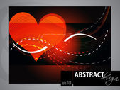 Abstract shiny Background with lovely heart, EPS 10