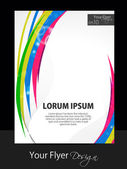 Abstract colorful flyer design with shiny waves, EPS 10