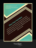 Vector vintage flyer design