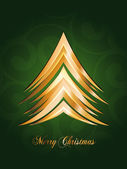 Beautiful Christmas Card with x mas tree , Sparkling flyer with red background Vector illustration. Eps 10